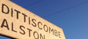Dittiscombe sign South Devon