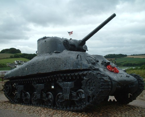 Sherman tank at Torcross