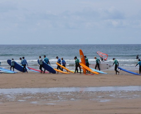 Surfing at Bigbury