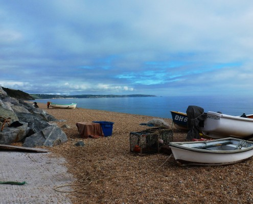 Beesands fishing boats, South Devon