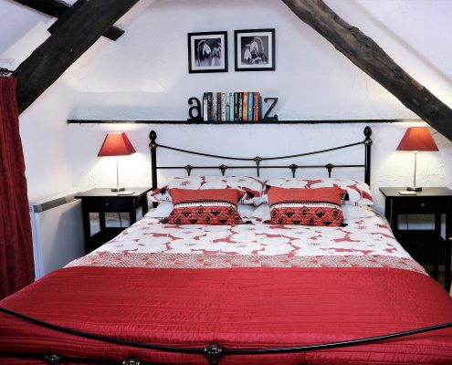 Kingsize bed, Rafters, Dittiscombe