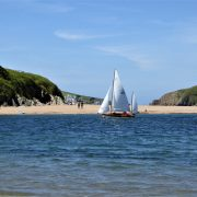 Sailing at Bigbury