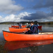 Canoeing at Bowcombe near Kingsbridge, Devon