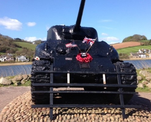 Memorial Tank at Torcross, South Devon