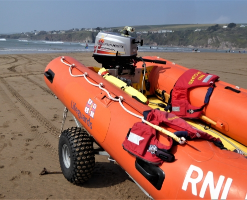 RNLI Boat at Bantham, South Devon