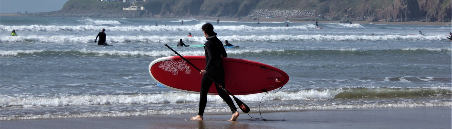 Paddleboarding at Bantham, South Devon