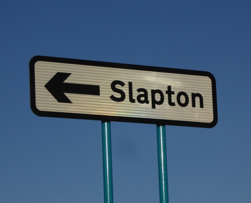 Sign to Slapton, South Devon