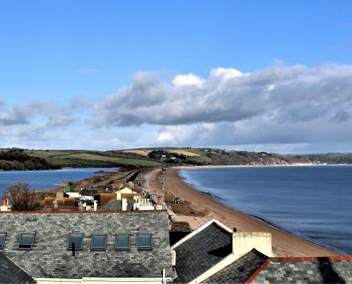 Torcross beach and Slapton Ley