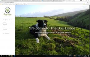 Luxury dog lodge, Slapton
