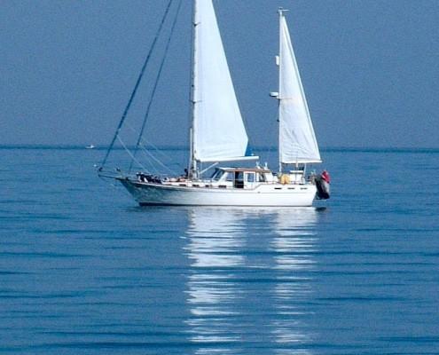 Sailing in Start Bay, South Devon
