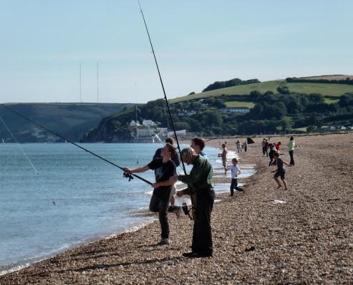 Fishing at Slapton Sands, South Devon