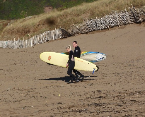 Surfers at Bantham