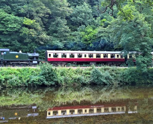 Steam Train by the River Dart, South Devon
