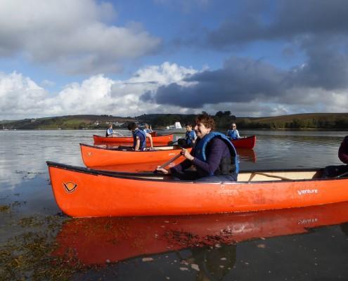 Canoeing at Bowcombe near Kingsbridge, Devon