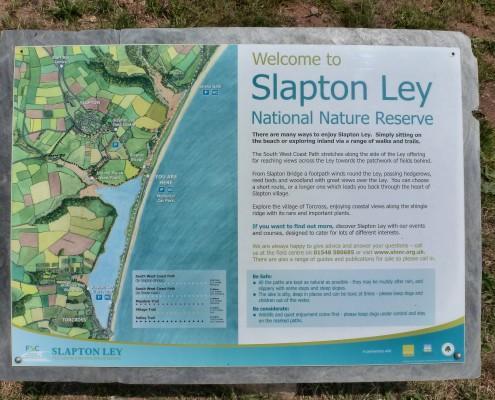 Slapton ley information board
