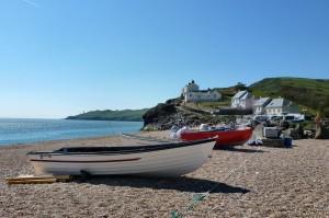 Boats at Hallsands beach