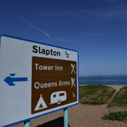 Pubs signs at Slapton Sands