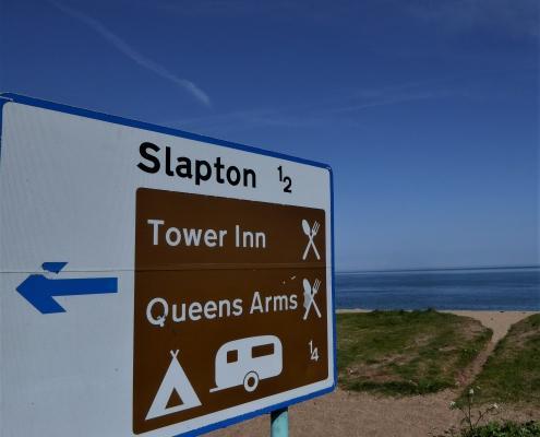 Pubs signs at Slapton Sands
