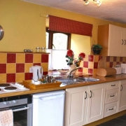 Four star kitchen at Dovecote, Dittiscombe