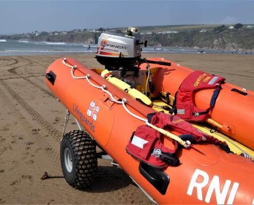 RNLI at Bantham Beach in South Devon