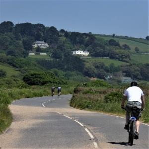 Cycling around Slapton Ley