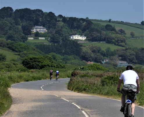 Cycling around Slapton Ley