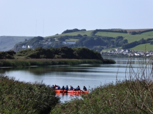 Canoeing on Slapton Ley with Singing Paddles