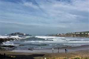 Surfing at Bantham