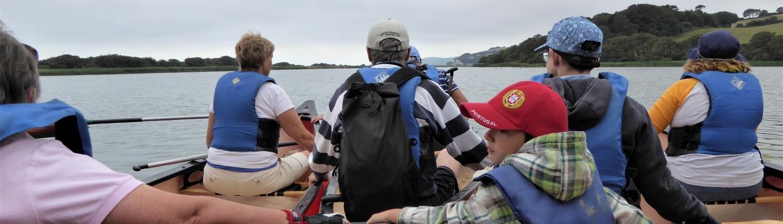 Canoeing with Singing Paddles on Slapton Ley