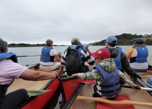 Canoeing with Singing Paddles on Slapton Ley