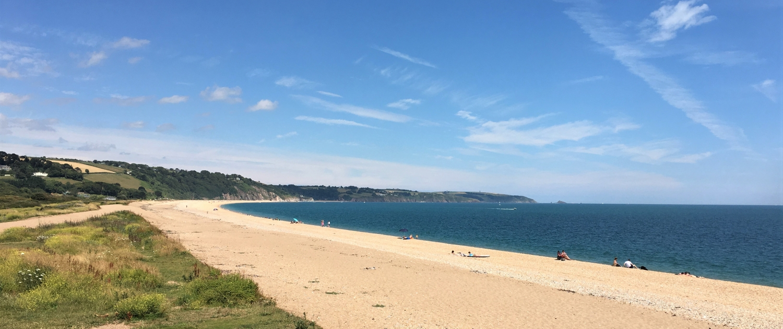 Slapton Sands beach looking east towards Dartmouth