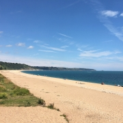 Slapton Sands beach looking east towards Dartmouth