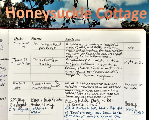 Guest Comments Dittiscombe Holiday Cottages