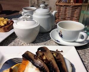Breakfast at Stokeley Farm Shope near Dittiscombe