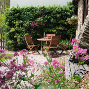 Rafters Cottage garden and seating