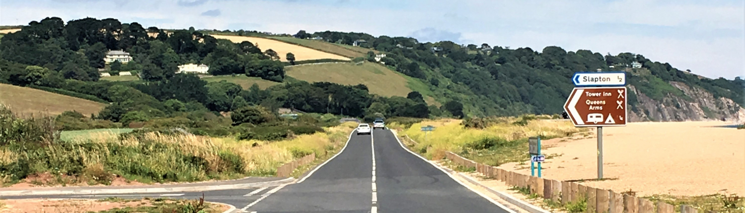 The road from Torcross to Strete Gate