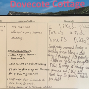 Guest book Dovecote